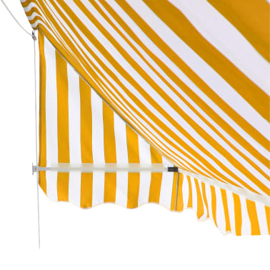 vidaXL Bistro-Markise Orange und Weiß 150 x 120 cm[5/6]