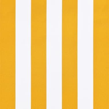 vidaXL Bistro-Markise Orange und Weiß 150 x 120 cm[6/6]