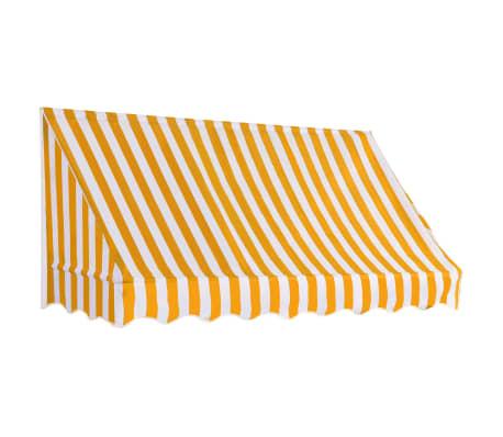 vidaXL Bistro Awning 200x120 cm Orange and White