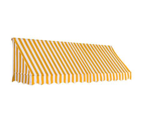vidaXL bistromarkise 300 x 120 cm orange og hvid