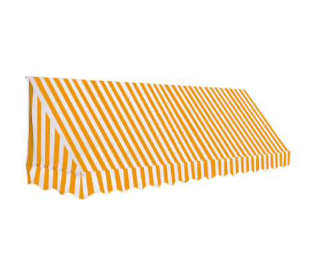 vidaXL Luifel 350x120 cm oranje en wit