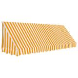 vidaXL Auvent de bistro 350x120 cm Orange et blanc