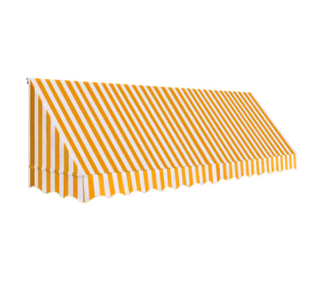 vidaXL Luifel 400x120 cm oranje en wit