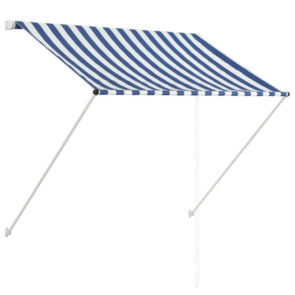 vidaXL Zatahovací markýza 150 x 150 cm modro-bílá