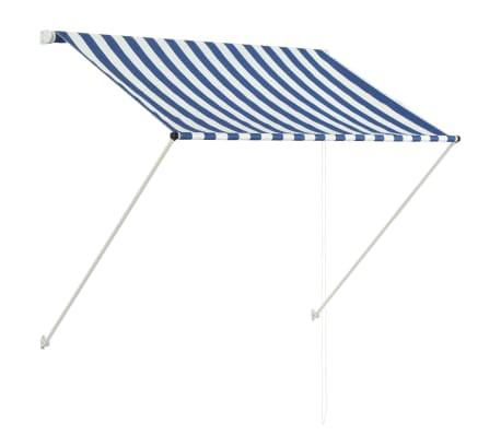 vidaXL Markis 150x150 cm blå och vit