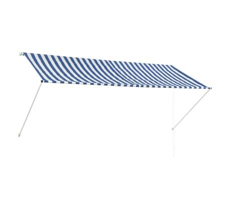 vidaXL Markiza zwijana, 300 x 150 cm, biało-niebieska