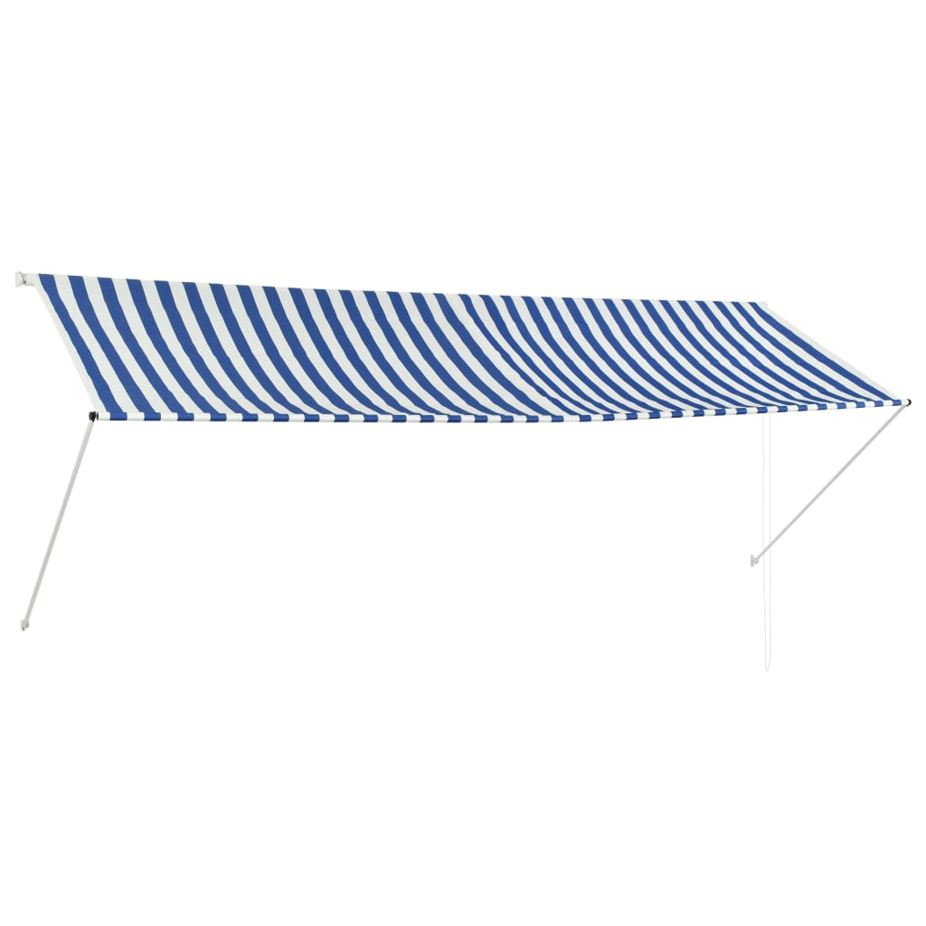Zatahovací markýza modro-bílá 350 x 150 cm