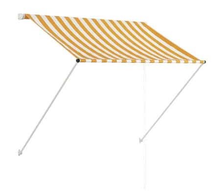 "vidaXL Retractable Awning 59.1""x59.1"" Yellow and White"