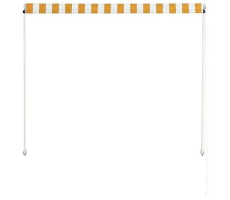 vidaXL Einziehbare Markise 150 x 150 cm Gelb und Weiß[4/6]