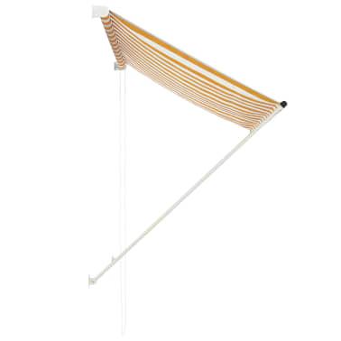 vidaXL Einziehbare Markise 150 x 150 cm Gelb und Weiß[2/6]