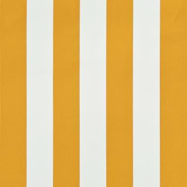 vidaXL Einziehbare Markise 150 x 150 cm Gelb und Weiß[6/6]