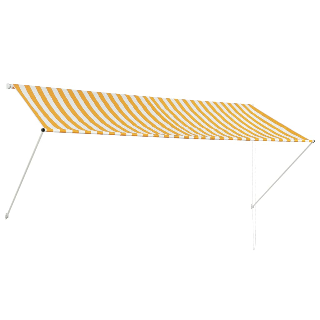 vidaXL Τέντα Συρόμενη Κίτρινο / Λευκό 300 x 150 εκ.