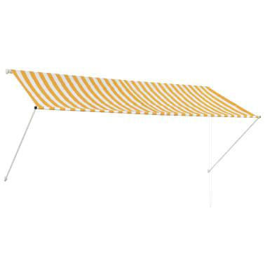 vidaXL Zonwering uitschuifbaar 300x150 cm geel en wit[1/6]