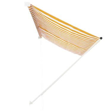 vidaXL Zonwering uitschuifbaar 300x150 cm geel en wit[2/6]