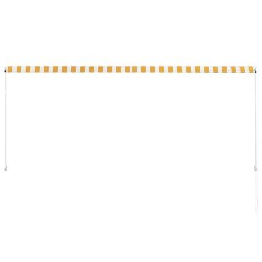 vidaXL Zonwering uitschuifbaar 300x150 cm geel en wit[4/6]