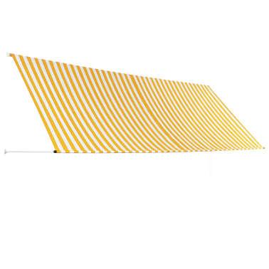 vidaXL Einziehbare Markise Gelb und Weiß 400 x 150 cm[3/5]