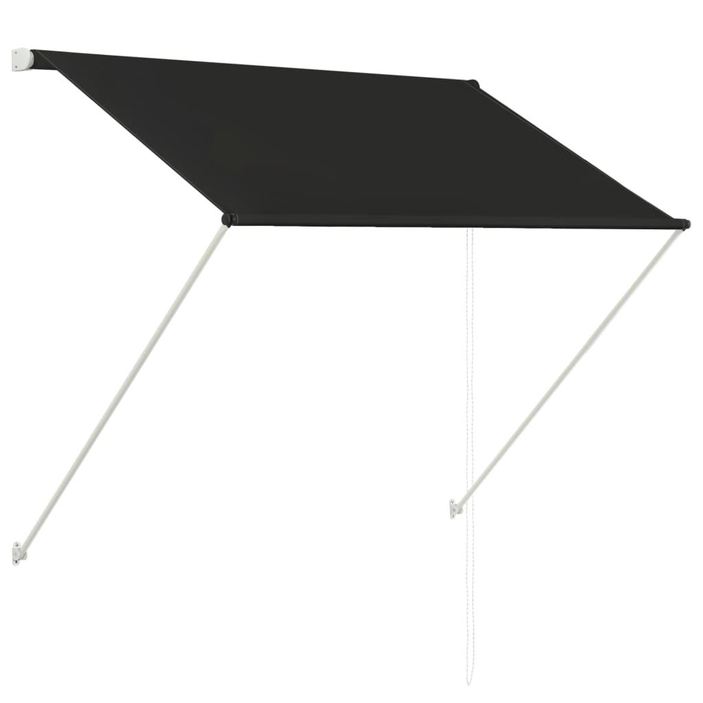 vidaXL Zatahovací markýza antracitová 150 x 150 cm