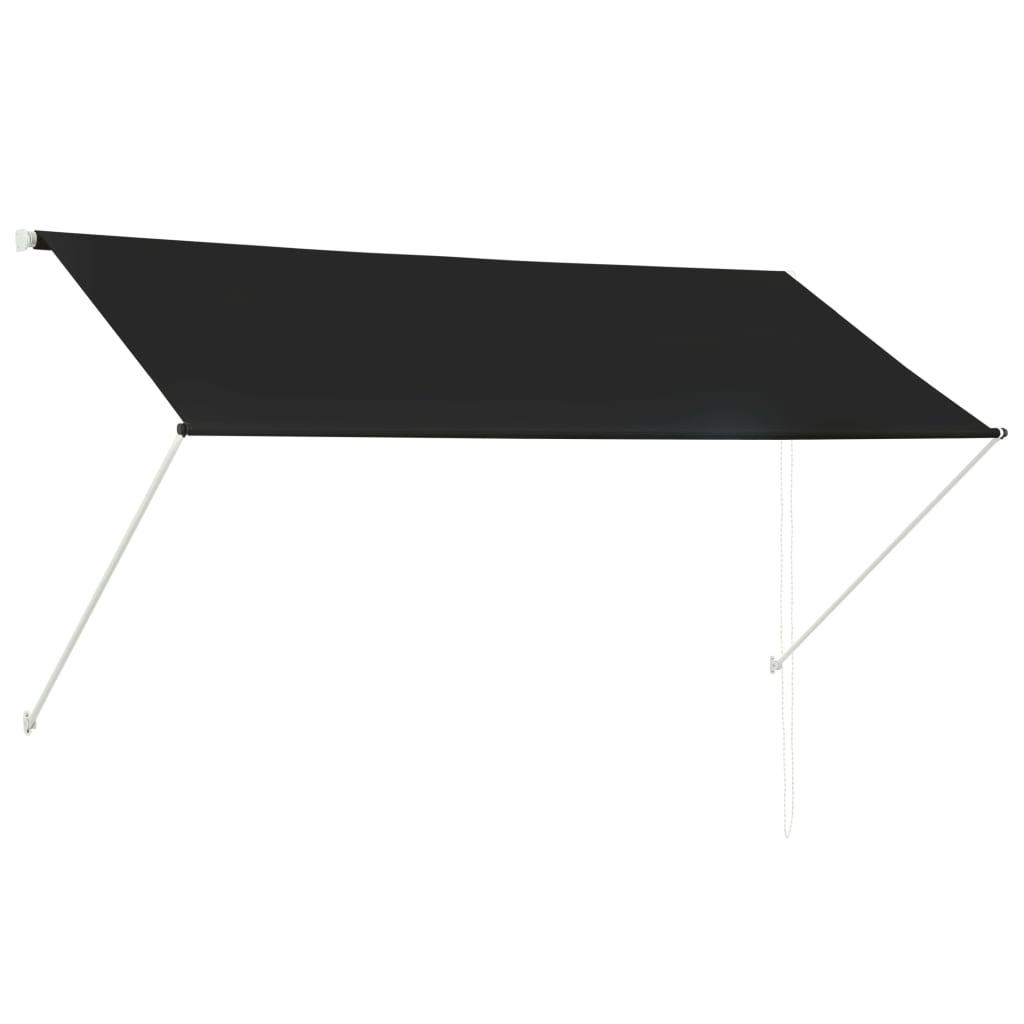 vidaXL Zatahovací markýza antracitová 250 x 150 cm