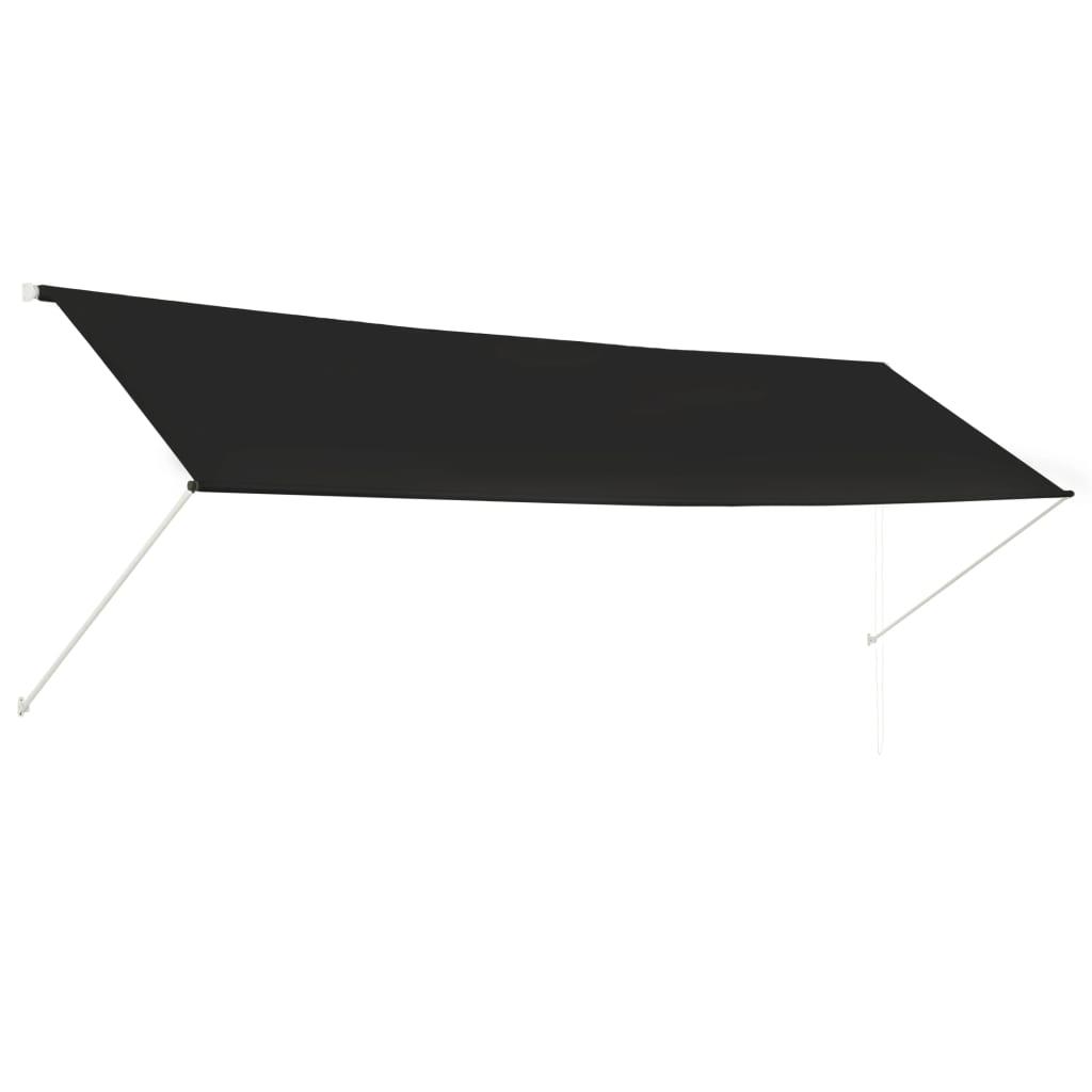 vidaXL Zatahovací markýza antracitová 400 x 150 cm