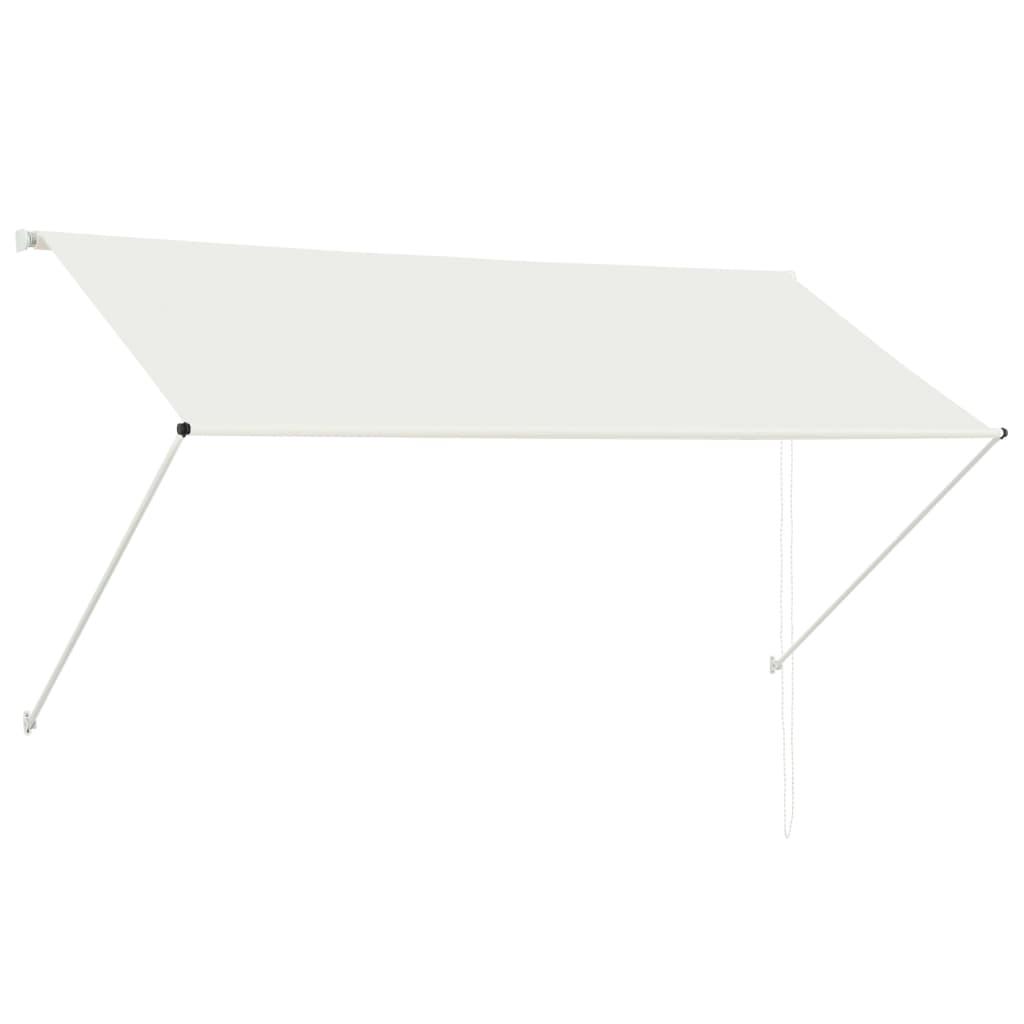 vidaXL Zatahovací markýza krémová 250 x 150 cm