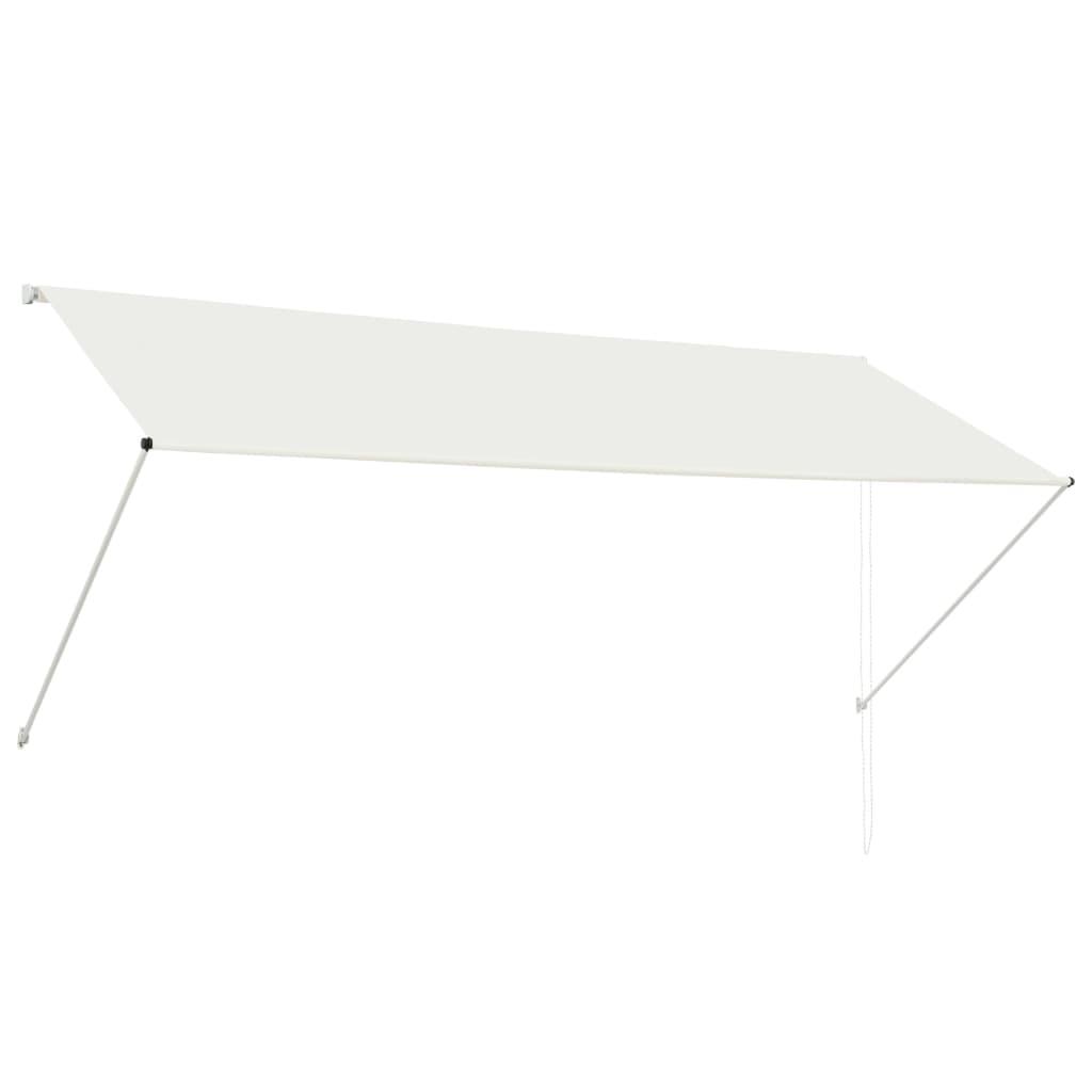 vidaXL Zatahovací markýza krémová 300 x 150 cm
