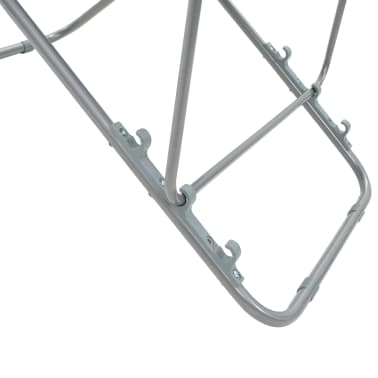 vidaXL Folding Beach Chairs 2 pcs Steel and Oxford Fabric Black[9/10]