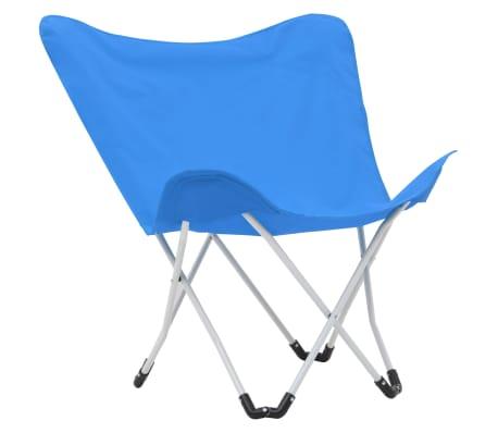 vidaXL Sillas de camping estilo mariposa plegables 2 unidades azul[2/11]