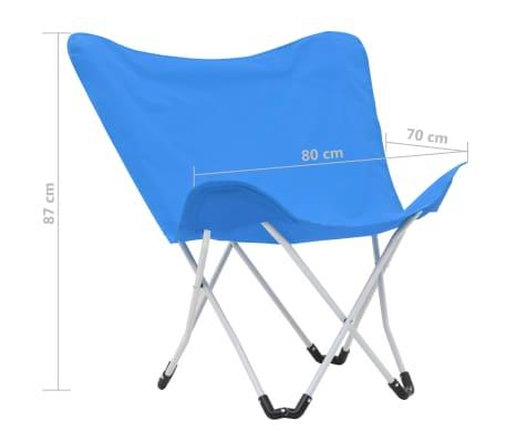 vidaXL Sillas de camping estilo mariposa plegables 2 unidades azul[11/11]