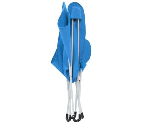 vidaXL Sillas de camping estilo mariposa plegables 2 unidades azul[7/11]