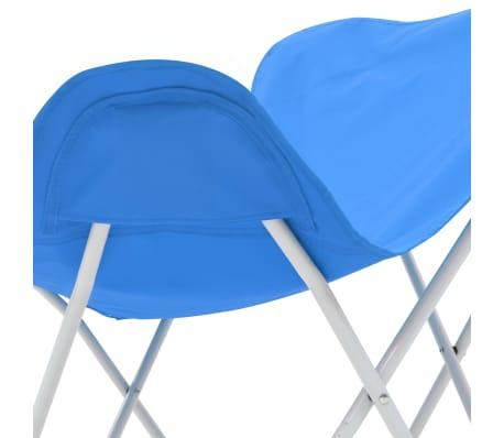 vidaXL Sillas de camping estilo mariposa plegables 2 unidades azul[9/11]
