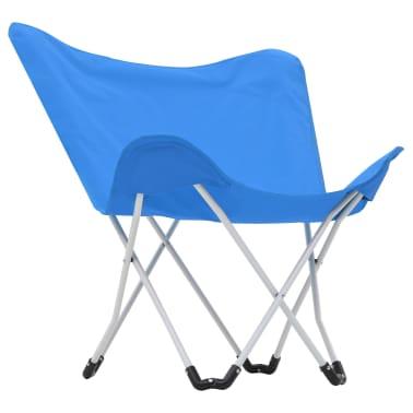 vidaXL Sillas de camping estilo mariposa plegables 2 unidades azul[4/11]