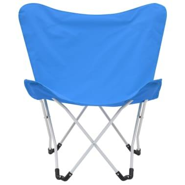 vidaXL Sillas de camping estilo mariposa plegables 2 unidades azul[5/11]