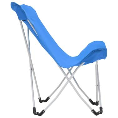 vidaXL Sillas de camping estilo mariposa plegables 2 unidades azul[6/11]