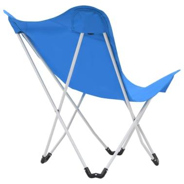 vidaXL Sillas de camping estilo mariposa plegables 2 unidades azul[8/11]