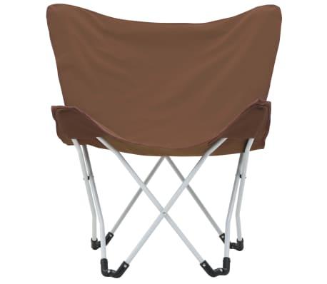 vidaXL Sillas de camping estilo mariposa plegables 2 unidades marrón[5/11]
