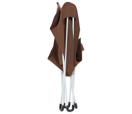 vidaXL Sillas de camping estilo mariposa plegables 2 unidades marrón[7/11]