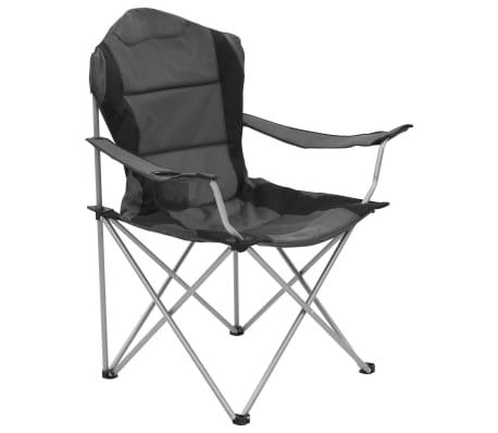 5f8261527833 vidaXL Skladacie kempingové stoličky 2 ks 96x60x102 cm sivé 2 12