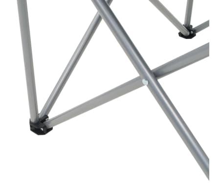 vidaXL Sillas plegables de camping 2 unidades gris 96x60x102 cm[11/12]