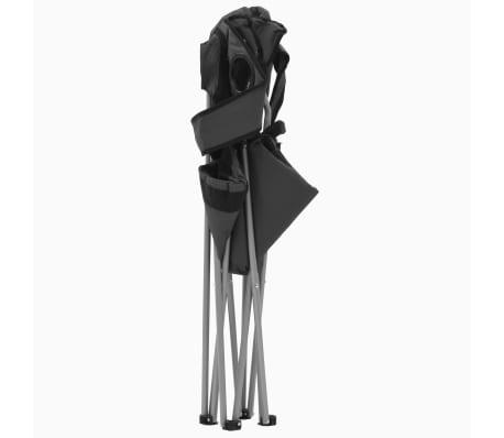 vidaXL Sillas plegables de camping 2 unidades gris 96x60x102 cm[4/12]