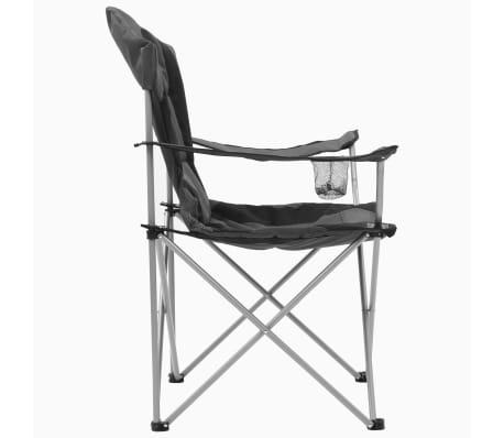 ad7e8397328c vidaXL Skladacie kempingové stoličky 2 ks 96x60x102 cm sivé 6 12