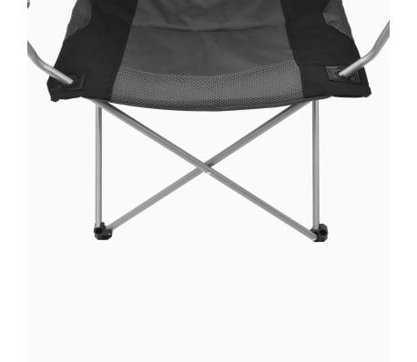 vidaXL Sillas plegables de camping 2 unidades gris 96x60x102 cm[9/12]