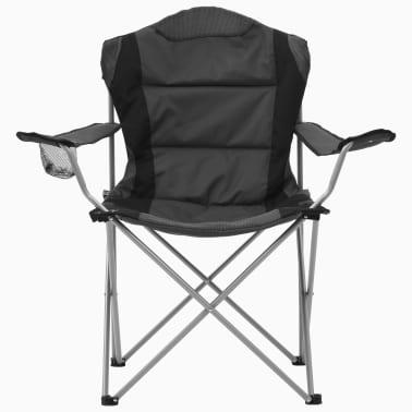 vidaXL Sillas plegables de camping 2 unidades gris 96x60x102 cm[3/12]
