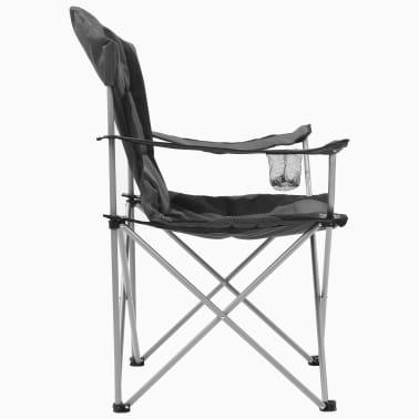 vidaXL Sillas plegables de camping 2 unidades gris 96x60x102 cm[6/12]