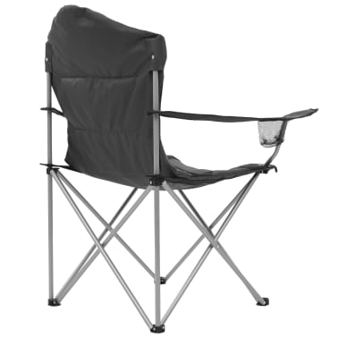 vidaXL Sillas plegables de camping 2 unidades gris 96x60x102 cm[7/12]