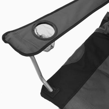 vidaXL Sillas plegables de camping 2 unidades gris 96x60x102 cm[10/12]