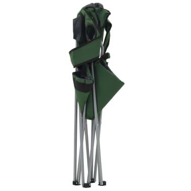 vidaXL Folding Camping Chairs 2 pcs 96x60x102 cm Green[4/12]
