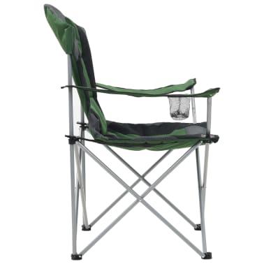 vidaXL Folding Camping Chairs 2 pcs 96x60x102 cm Green[5/12]