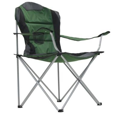 vidaXL Folding Camping Chairs 2 pcs 96x60x102 cm Green[6/12]