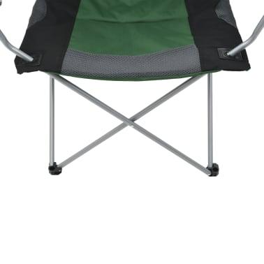 vidaXL Folding Camping Chairs 2 pcs 96x60x102 cm Green[8/12]
