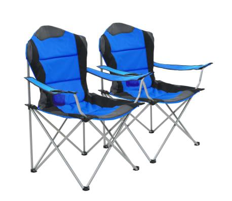 67add55210e5 vidaXL Skladacie kempingové stoličky 2 ks 96x60x102 cm modré 1 12